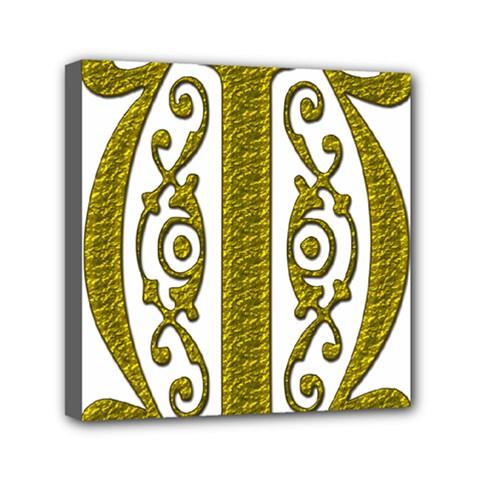 Gold Scroll Design Ornate Ornament Mini Canvas 6  X 6