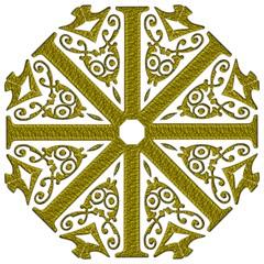 Gold Scroll Design Ornate Ornament Straight Umbrellas