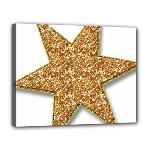Star Glitter Canvas 14  X 11