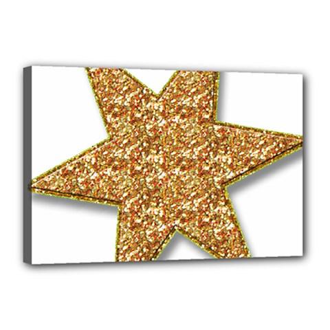 Star Glitter Canvas 18  x 12