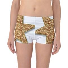 Star Glitter Boyleg Bikini Bottoms