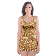 Star Glitter Skater Dress Swimsuit
