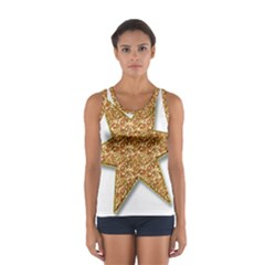 Star Glitter Women s Sport Tank Top