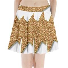 Star Glitter Pleated Mini Skirt