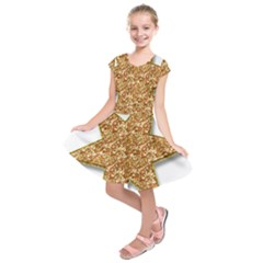 Star Glitter Kids  Short Sleeve Dress