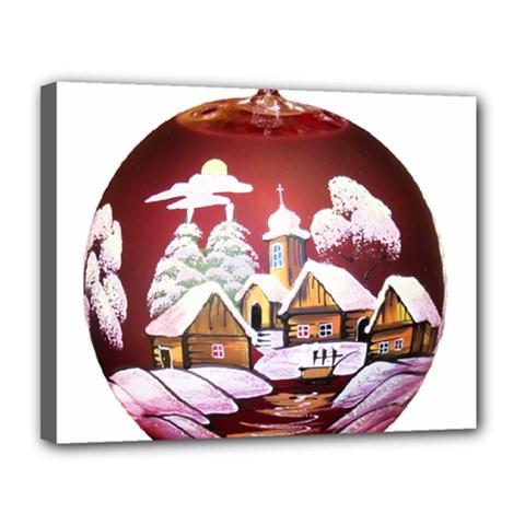 Christmas Decor Christmas Ornaments Canvas 14  X 11