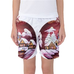 Christmas Decor Christmas Ornaments Women s Basketball Shorts