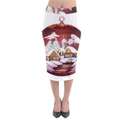 Christmas Decor Christmas Ornaments Midi Pencil Skirt