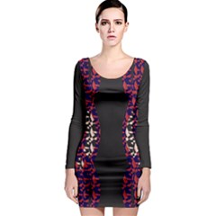 Geometric Pattern 236 170507 Long Sleeve Bodycon Dress
