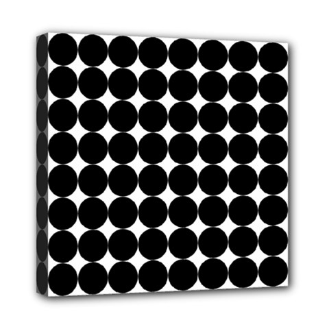 Dotted Pattern Png Dots Square Grid Abuse Black Mini Canvas 8  X 8
