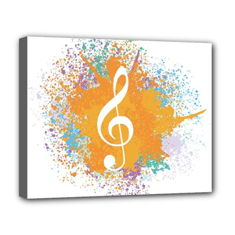 Musical Notes Deluxe Canvas 20  X 16