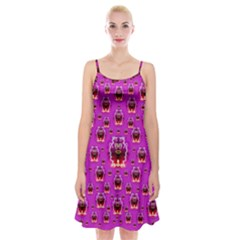 A Cartoon Named Okey Want Friends And Freedom Spaghetti Strap Velvet Dress