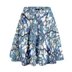 Modern Nouveau Pattern High Waist Skirt