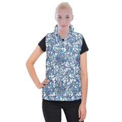 Modern Nouveau Pattern Women s Button Up Puffer Vest