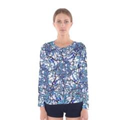 Modern Nouveau Pattern Women s Long Sleeve Tee