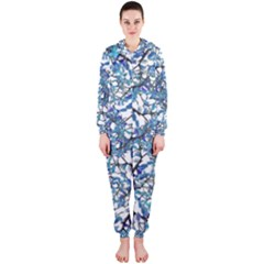 Modern Nouveau Pattern Hooded Jumpsuit (Ladies)