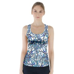 Modern Nouveau Pattern Racer Back Sports Top