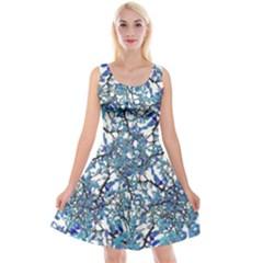 Modern Nouveau Pattern Reversible Velvet Sleeveless Dress