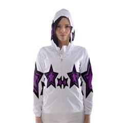 Star Purple Space Hooded Wind Breaker (women)