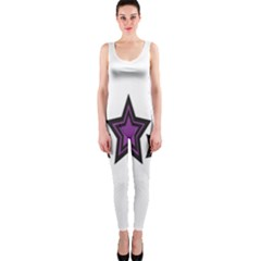 Star Purple Space Onepiece Catsuit
