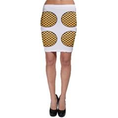 Star Circle Orange Round Polka Bodycon Skirt