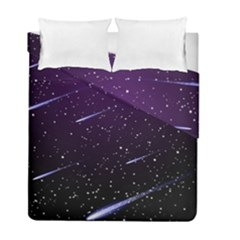 Starry Night Sky Meteor Stock Vectors Clipart Illustrations Duvet Cover Double Side (full/ Double Size)