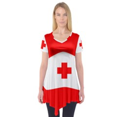 Tabla Laboral Sign Red White Short Sleeve Tunic