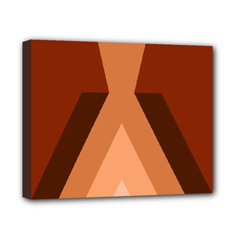 Volcano Lava Gender Magma Flags Line Brown Canvas 10  X 8