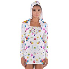 Balloons   Women s Long Sleeve Hooded T Shirt