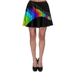 Rainbow piano  Skater Skirt