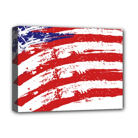 American flag Deluxe Canvas 16  x 12