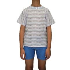 Geometric Pattern 176 170302 Kids  Short Sleeve Swimwear
