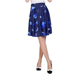 Space pattern A-Line Skirt