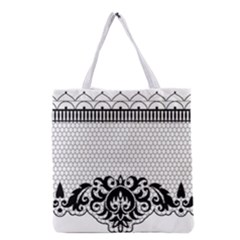 Transparent Lace Decoration Grocery Tote Bag