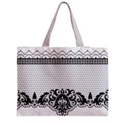 Transparent Lace Decoration Medium Tote Bag