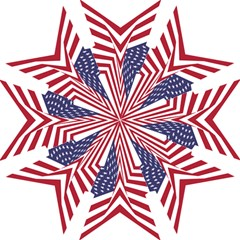 A Star With An American Flag Pattern Hook Handle Umbrellas (small)