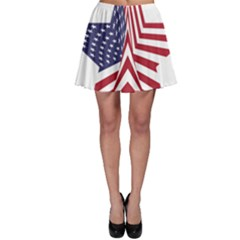A Star With An American Flag Pattern Skater Skirt