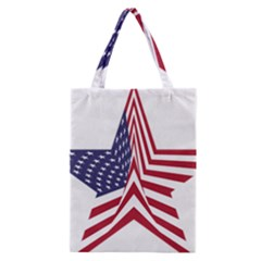 A Star With An American Flag Pattern Classic Tote Bag