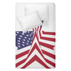 A Star With An American Flag Pattern Duvet Cover Double Side (single Size)