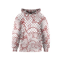 Transparent Decorative Lace With Roses Kids  Pullover Hoodie