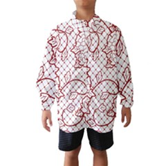 Transparent Decorative Lace With Roses Wind Breaker (Kids)