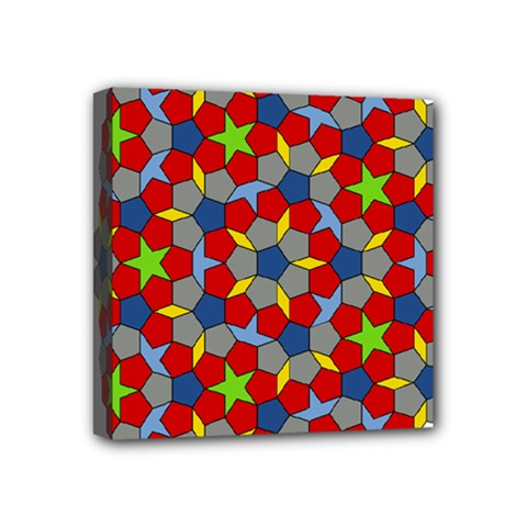 Penrose Tiling Mini Canvas 4  X 4