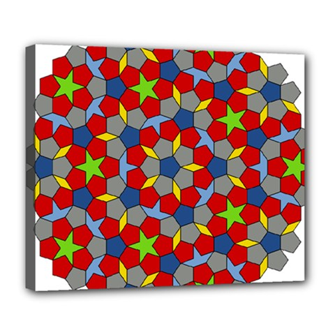 Penrose Tiling Deluxe Canvas 24  x 20