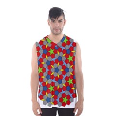 Penrose Tiling Men s Basketball Tank Top