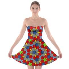 Penrose Tiling Strapless Bra Top Dress