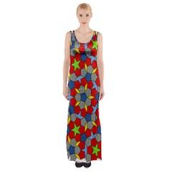Penrose Tiling Maxi Thigh Split Dress