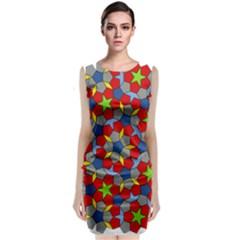 Penrose Tiling Classic Sleeveless Midi Dress
