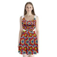 Penrose Tiling Split Back Mini Dress