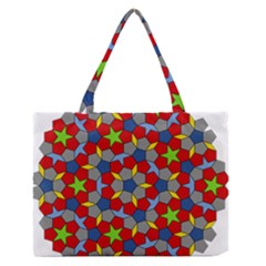 Penrose Tiling Medium Zipper Tote Bag