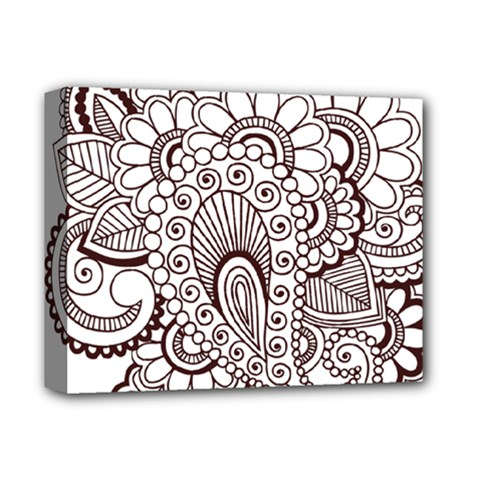 Henna Line Art Clipart Deluxe Canvas 14  X 11